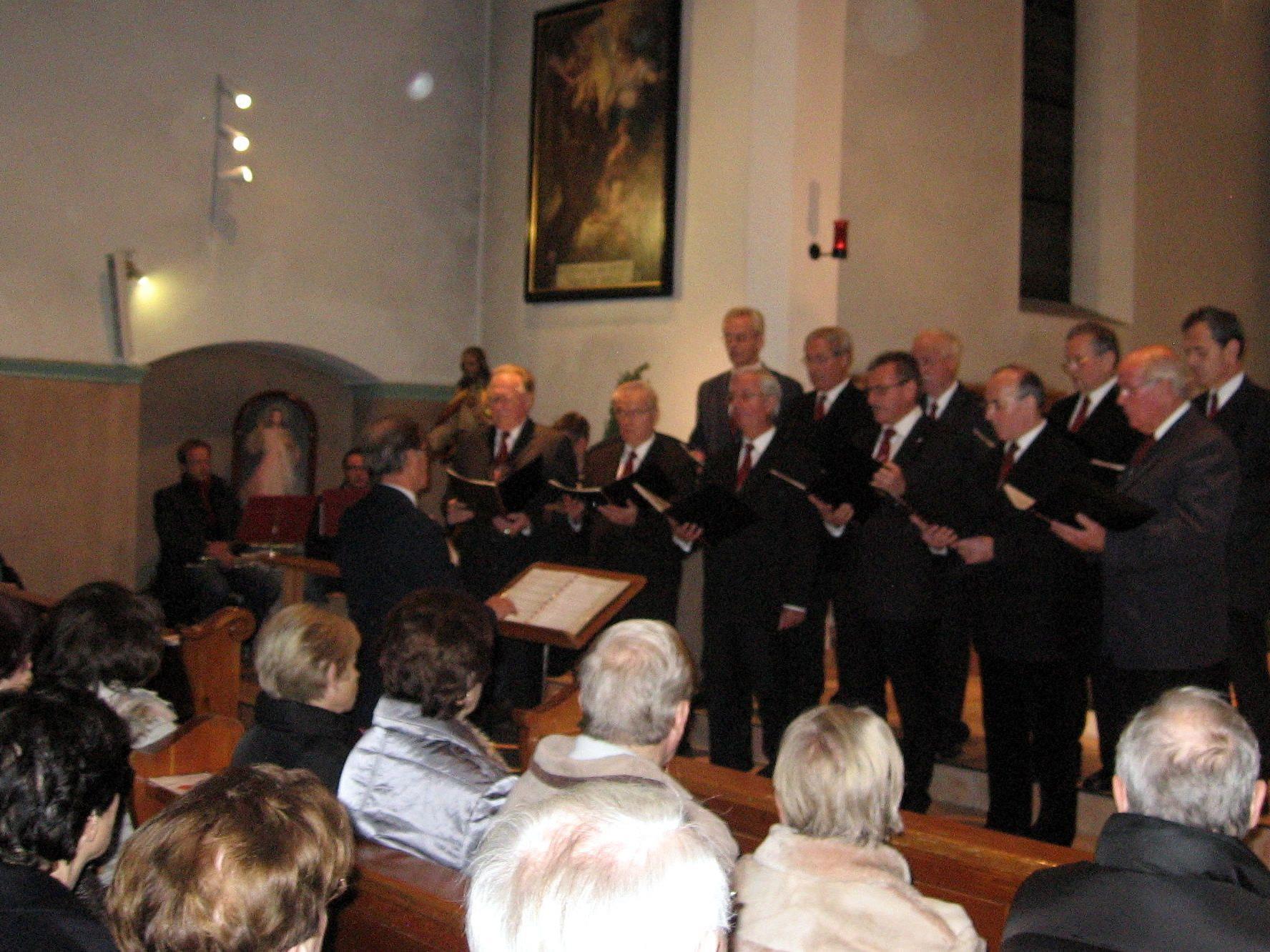Franziskanerchor bei der Adventbesinnung 2009