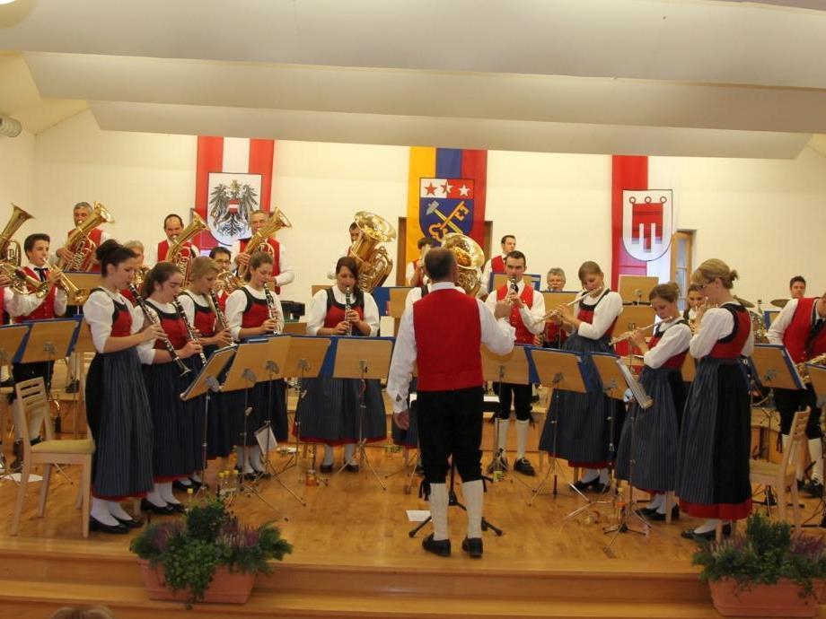 Die Bürgermusik Silbertal präsentierte sich beim Frühschoppen in Hochform