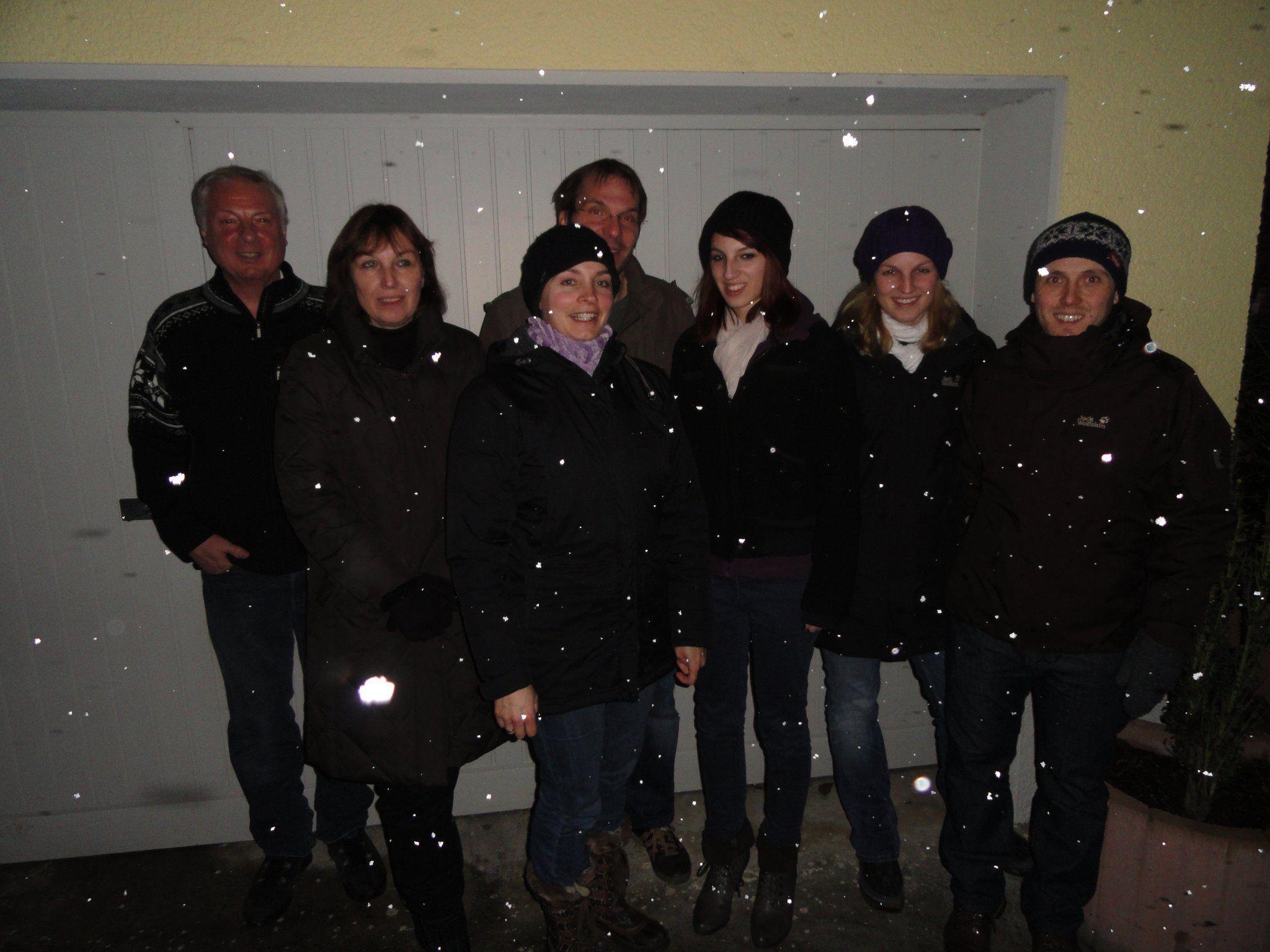 Glühweinfest bei Familie Huber