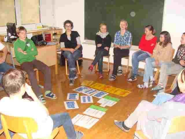 """Interessanter """"Aids""""-Workshop an der Mittelschule Hittisau."""