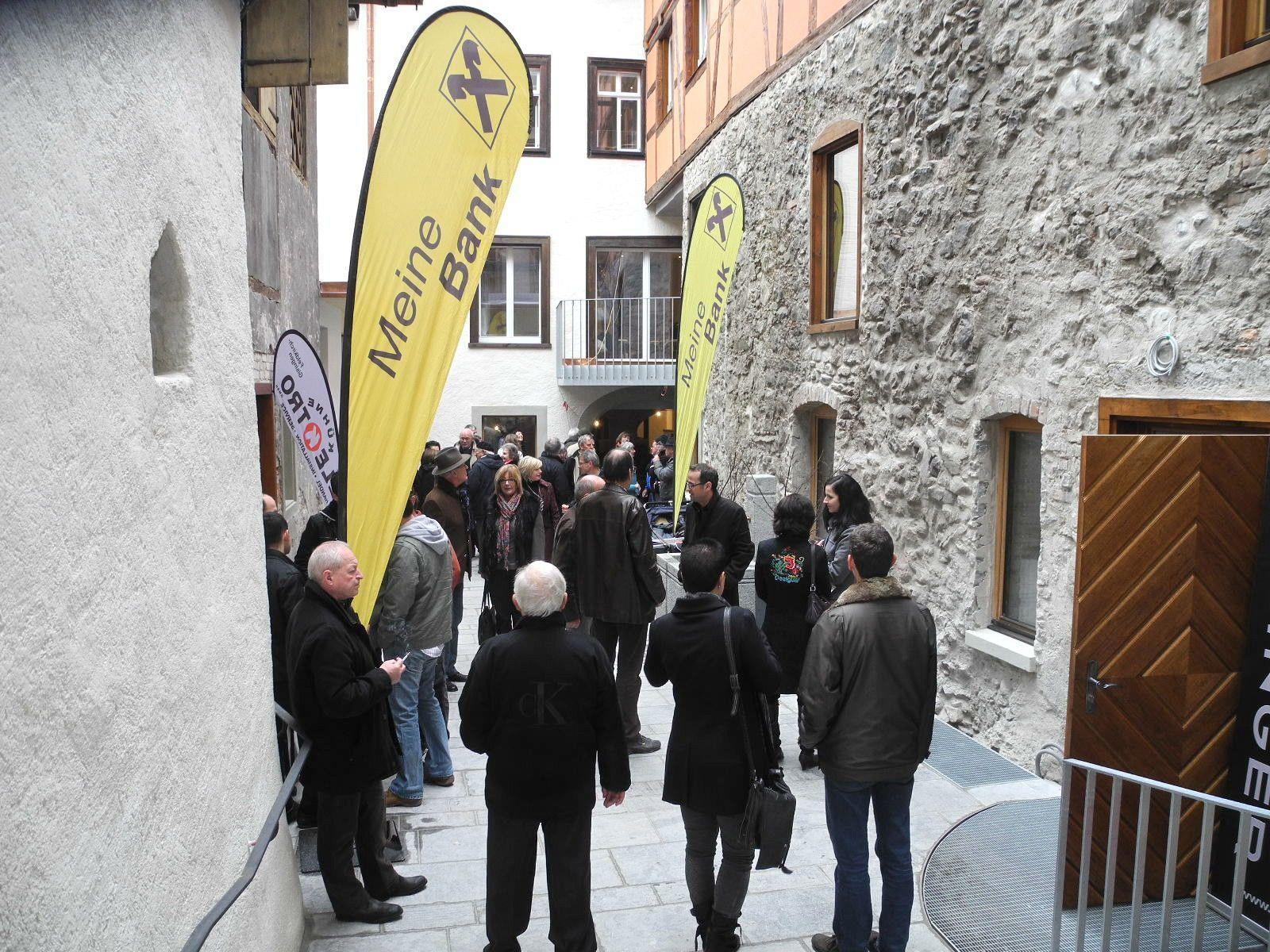 Highlight war der im mittelalterlichen Stil gestaltete Innenhof der künftig tagsüber begehbar ist.