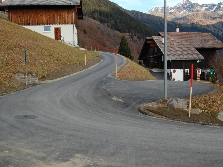Die Kristbergstraße in Silbertal wurde umfangreich saniert.