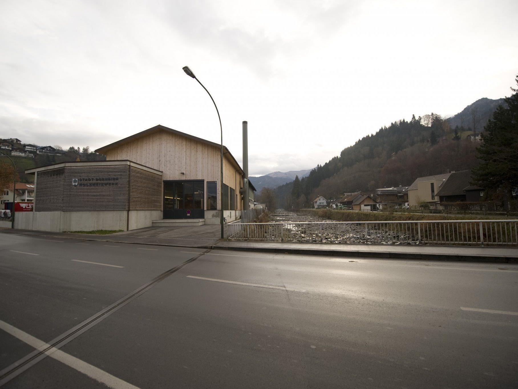 Das Holzheizwerk der Stadt Dornbirn
