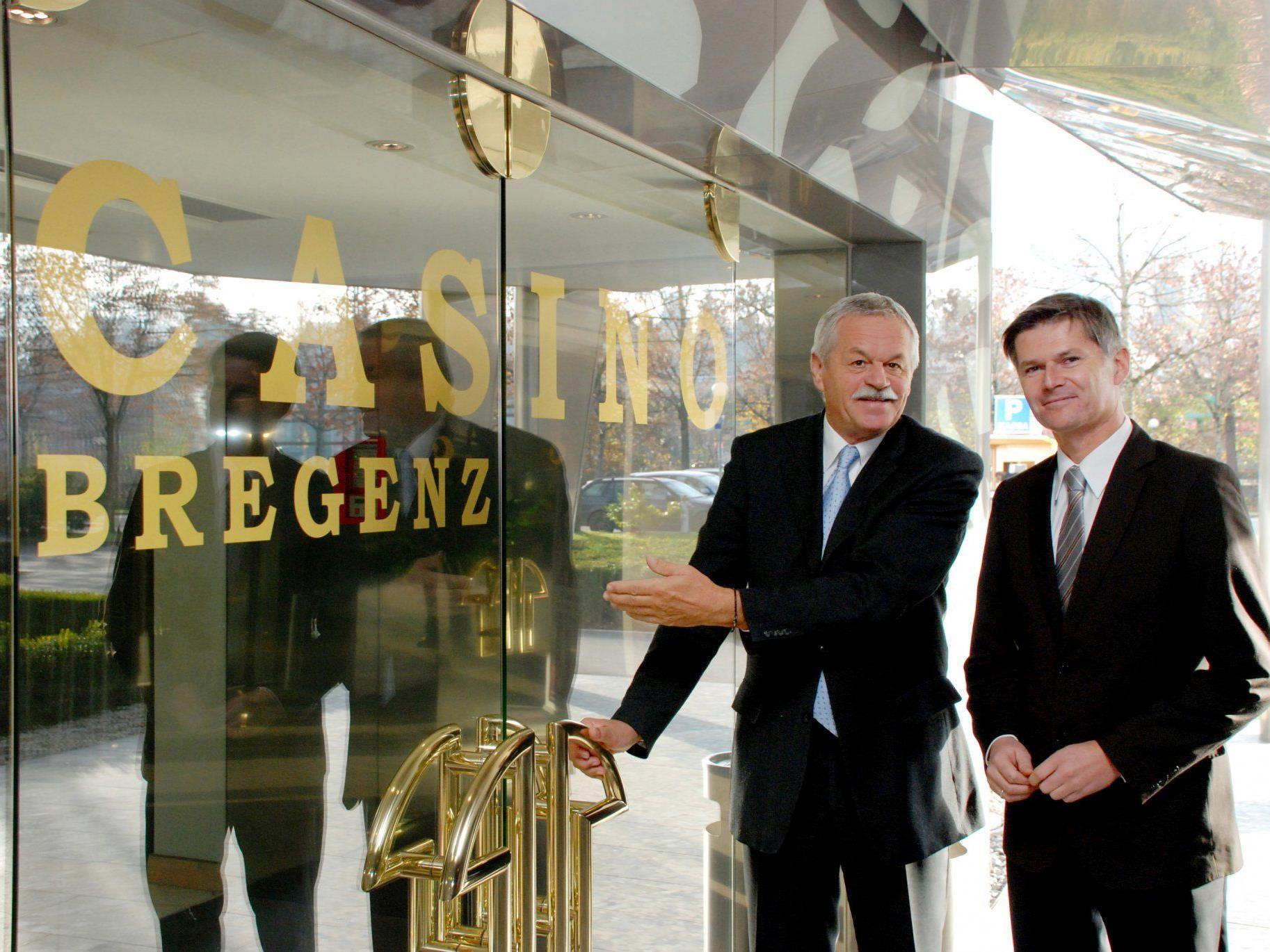 Casino-Direktor Josef Semler übergibt per 1.1.2012 die Geschäfte an seinen Nachfolger Bernhard Moosbrugger.