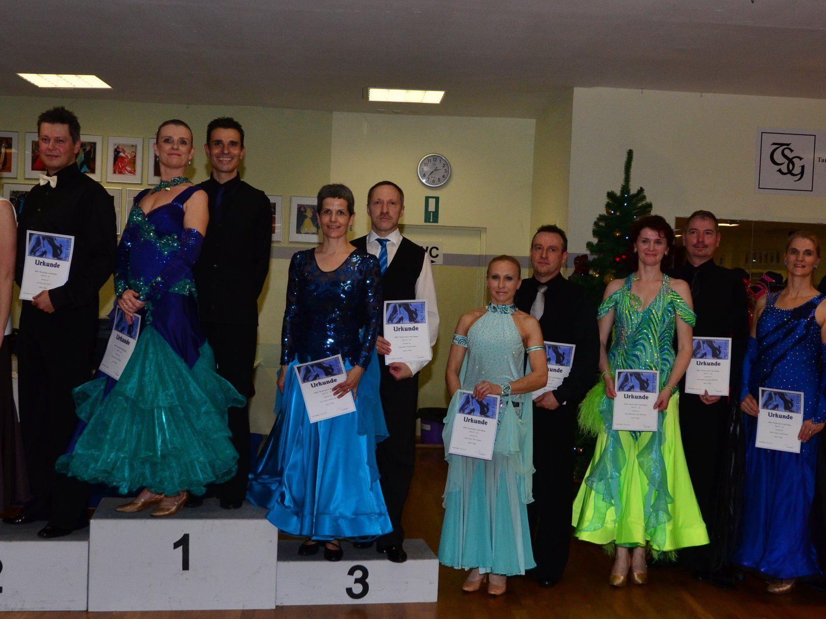Barbara und Eugen Kathan freuen sich über den 3. Platz!