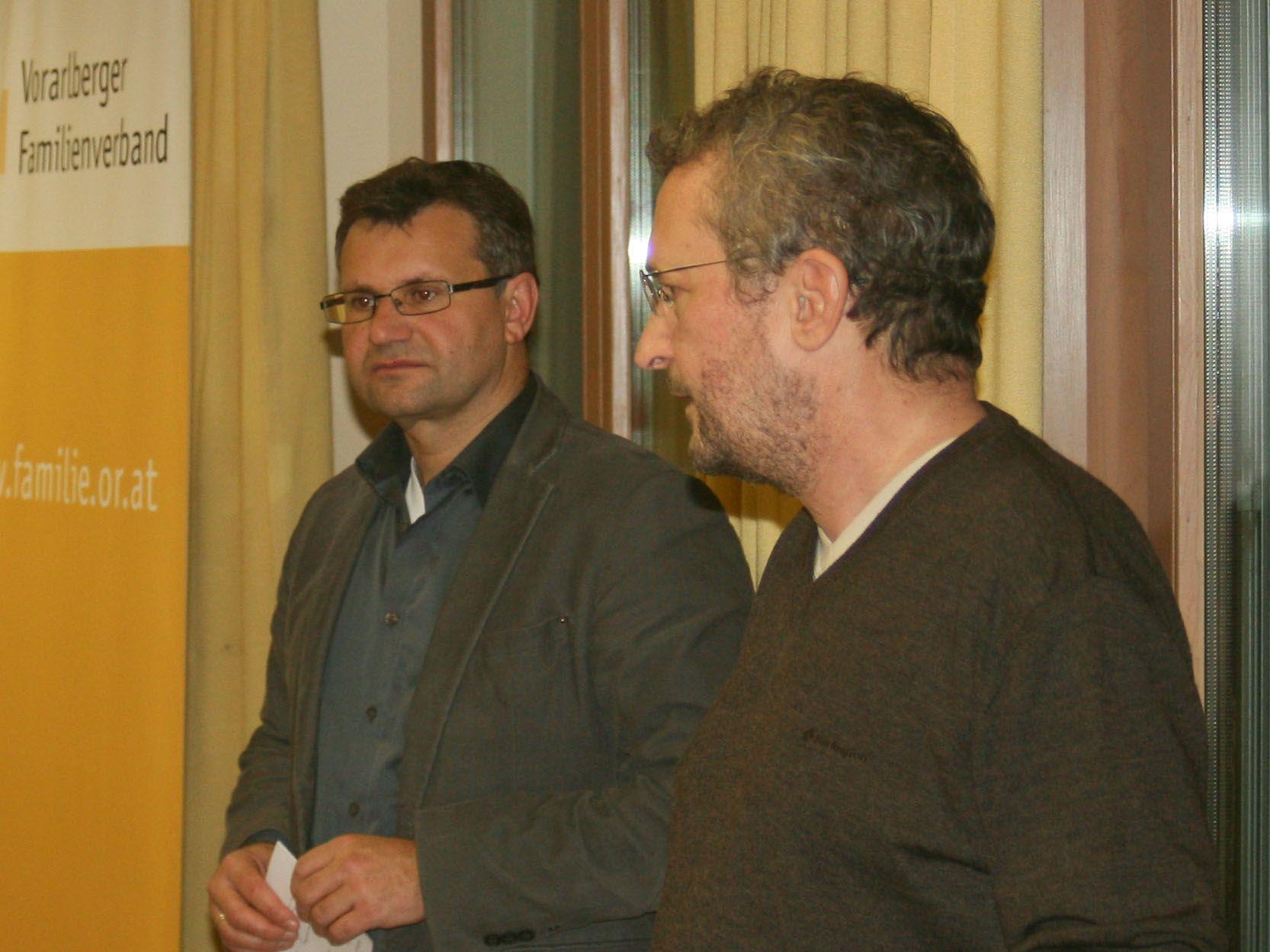 Christian Brunner, Leiter des Familienverbandes St. Anton i. M. und Dr. Markus Hofer