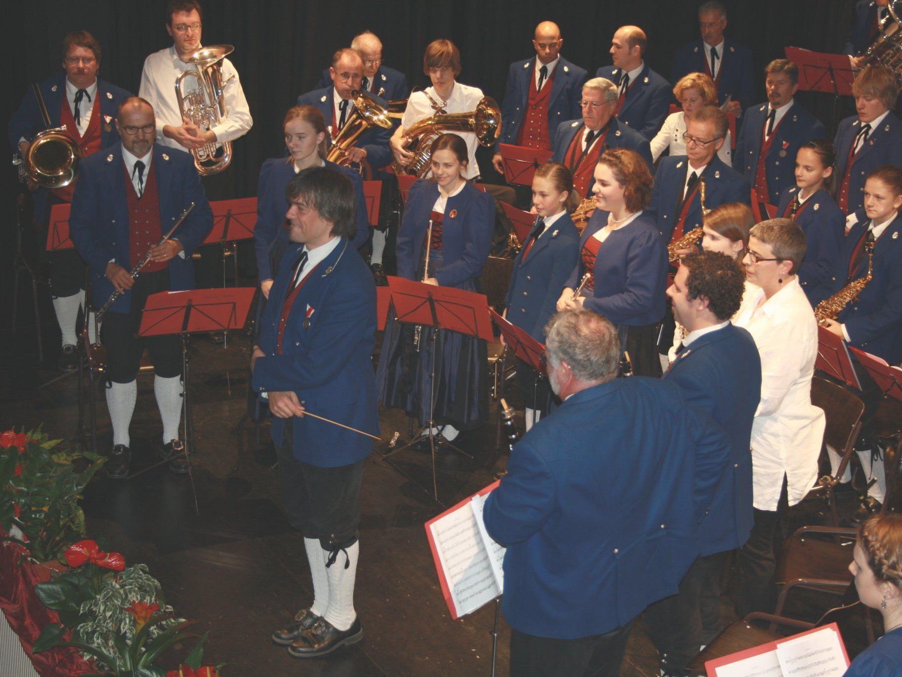 Die Bürgermusik mit Dirigent Wolfgang Jäger gilt als Aushängeschild der Stadt Hohenems.