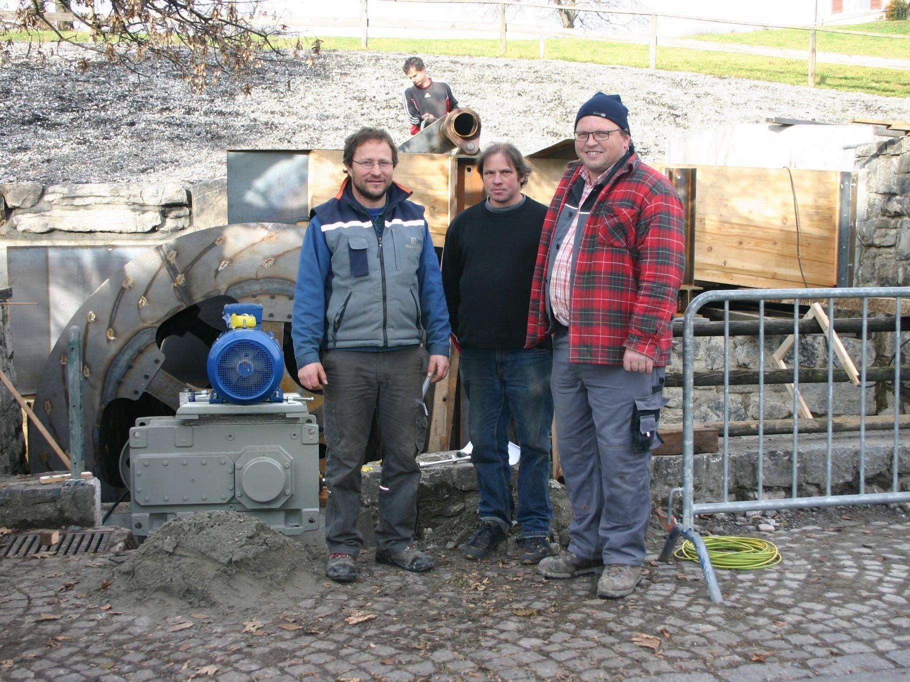 Die Betreibergemeinschaft: Markus Summer, Wilfried Ammann und Manfred Bischof (v. l.).