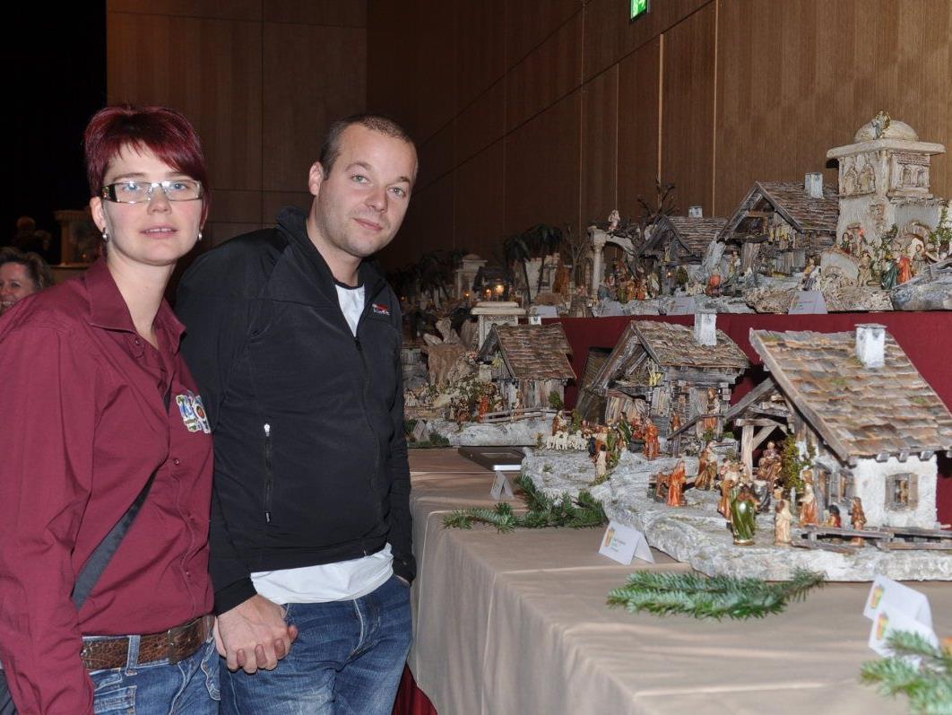 Auch Annette Dopfer und Manuel Kircher bestaunten die einzigartigen Werke.