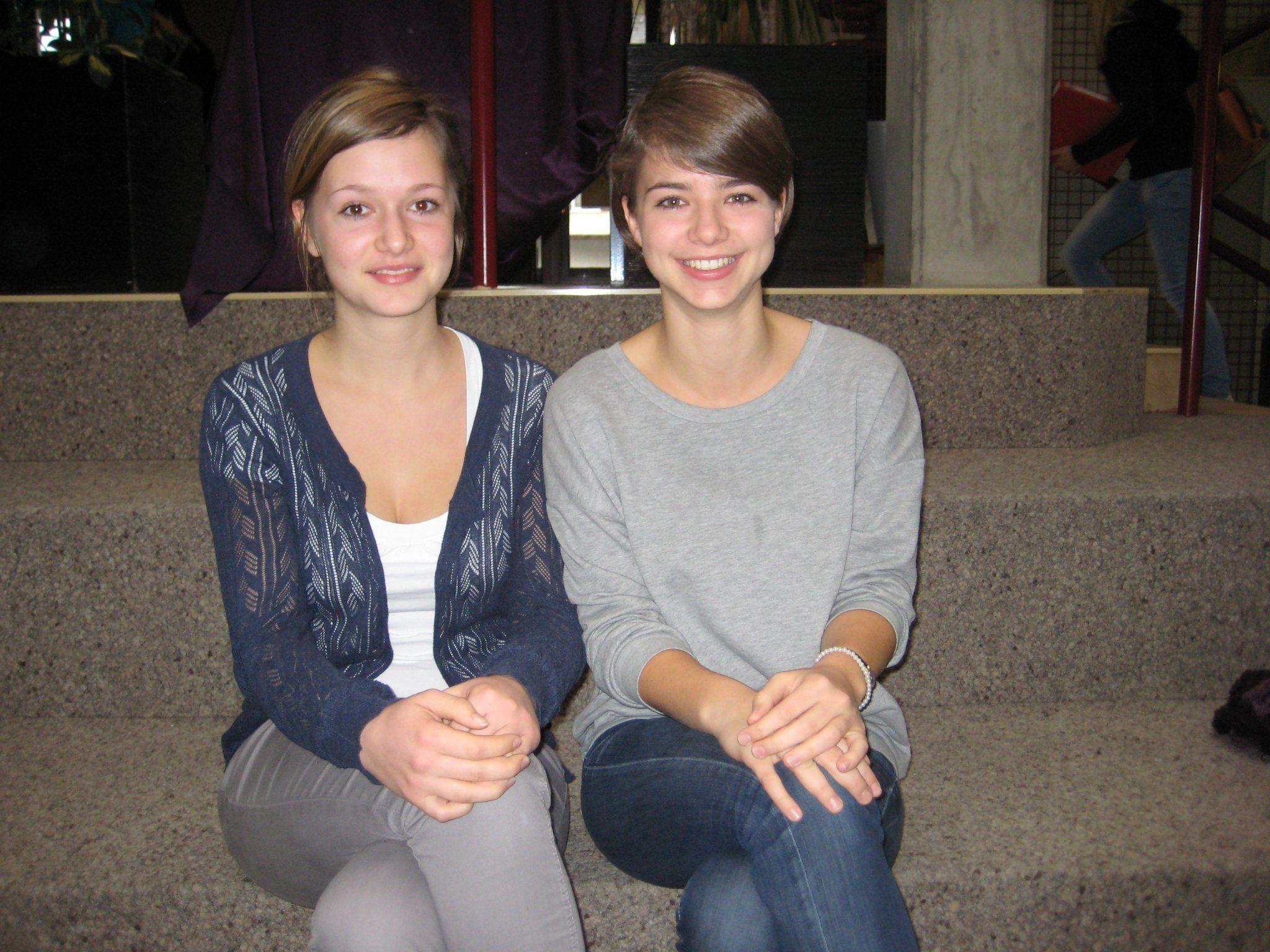Larissa und Marianna Nenning vom BORG Egg haben das Projekt initiiert.