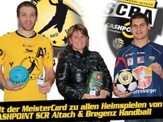 Die Meistercard gilt für die Heimspiele des SCR Altach und Bregenz Handball