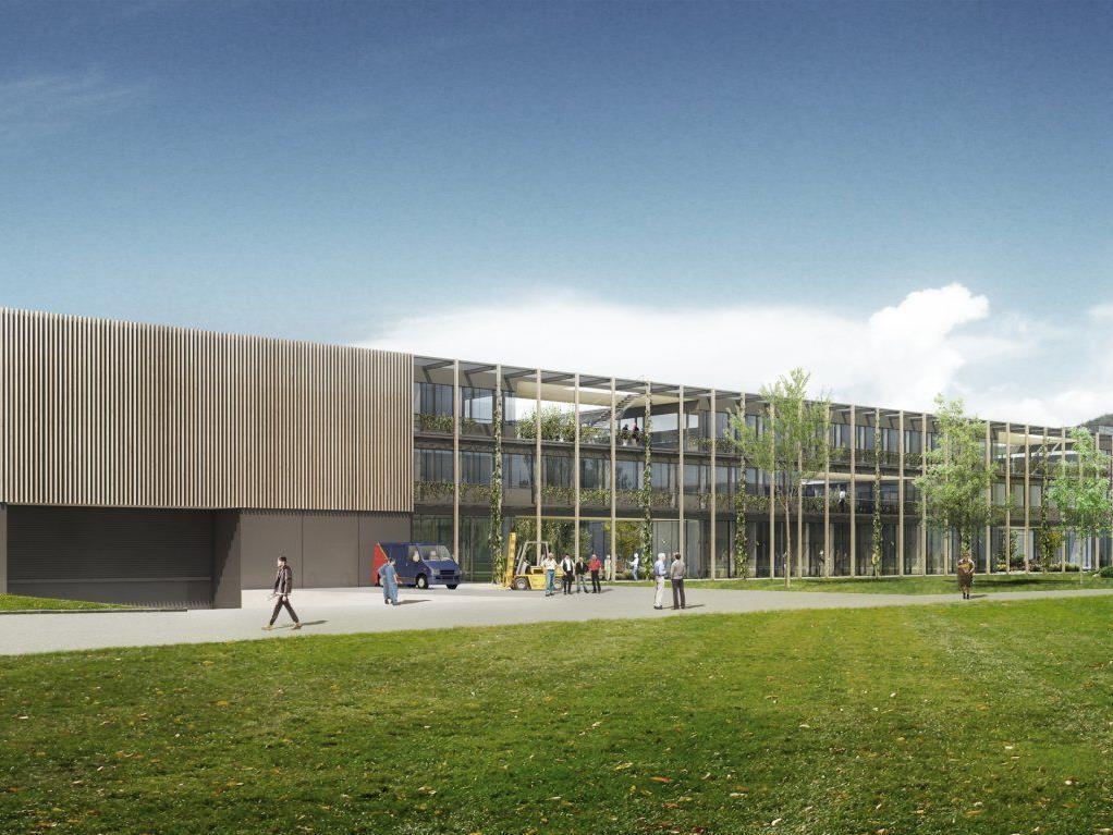 Mit 200 Arbeitsplätzen wird der erste Teil des Gesamtprojektes am Standort in Klaus realisiert.