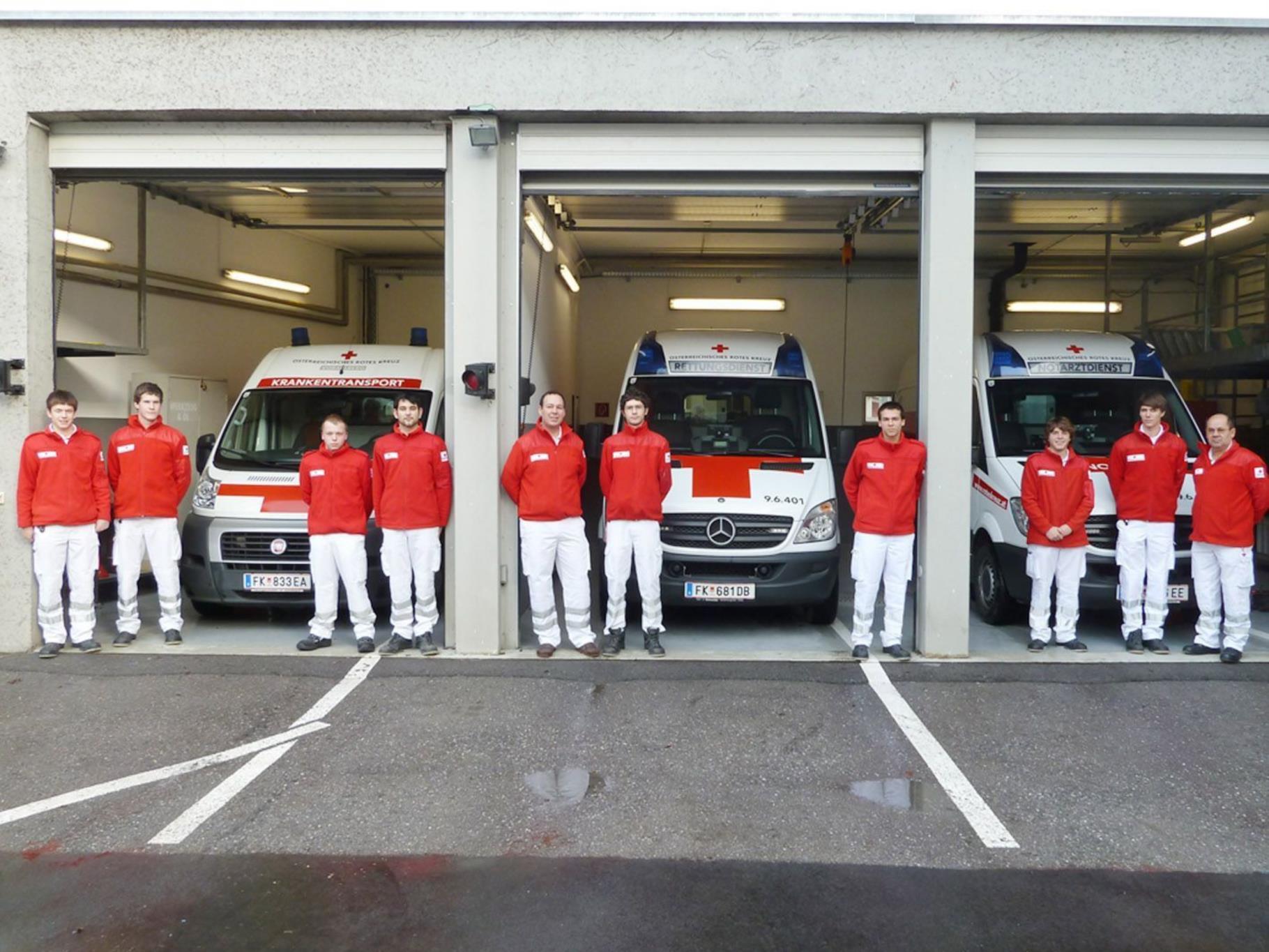 Für die sechs Fahrzeuge der Rettungsabteilung Hohenems gibt es nur drei Garagenplätze.