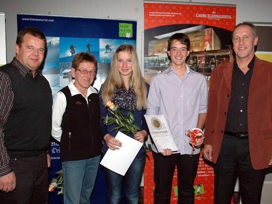 Vize Hörmann, Christiane Geiger, Katharina Wohlgenannt, Tobias Meusburger und Präsident Zintl
