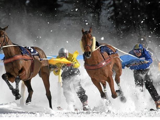 Im Jahr 1928 war Skijöring sogar olympischer Demonstrationswettbewerb in St. Moritz.