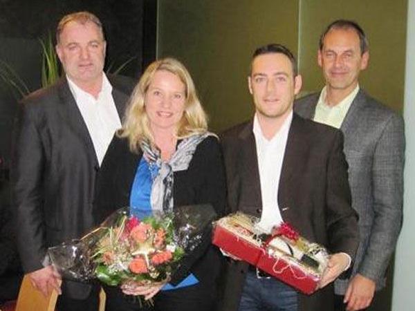 Präsident T. Bischof, C. Peham, T. Jussel, Vizepräsident J. Allgäuer