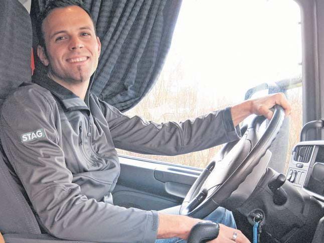 Wolfgang Mangeng fährt mit seinem Lkw täglich die Rheintalautobahn entlang.