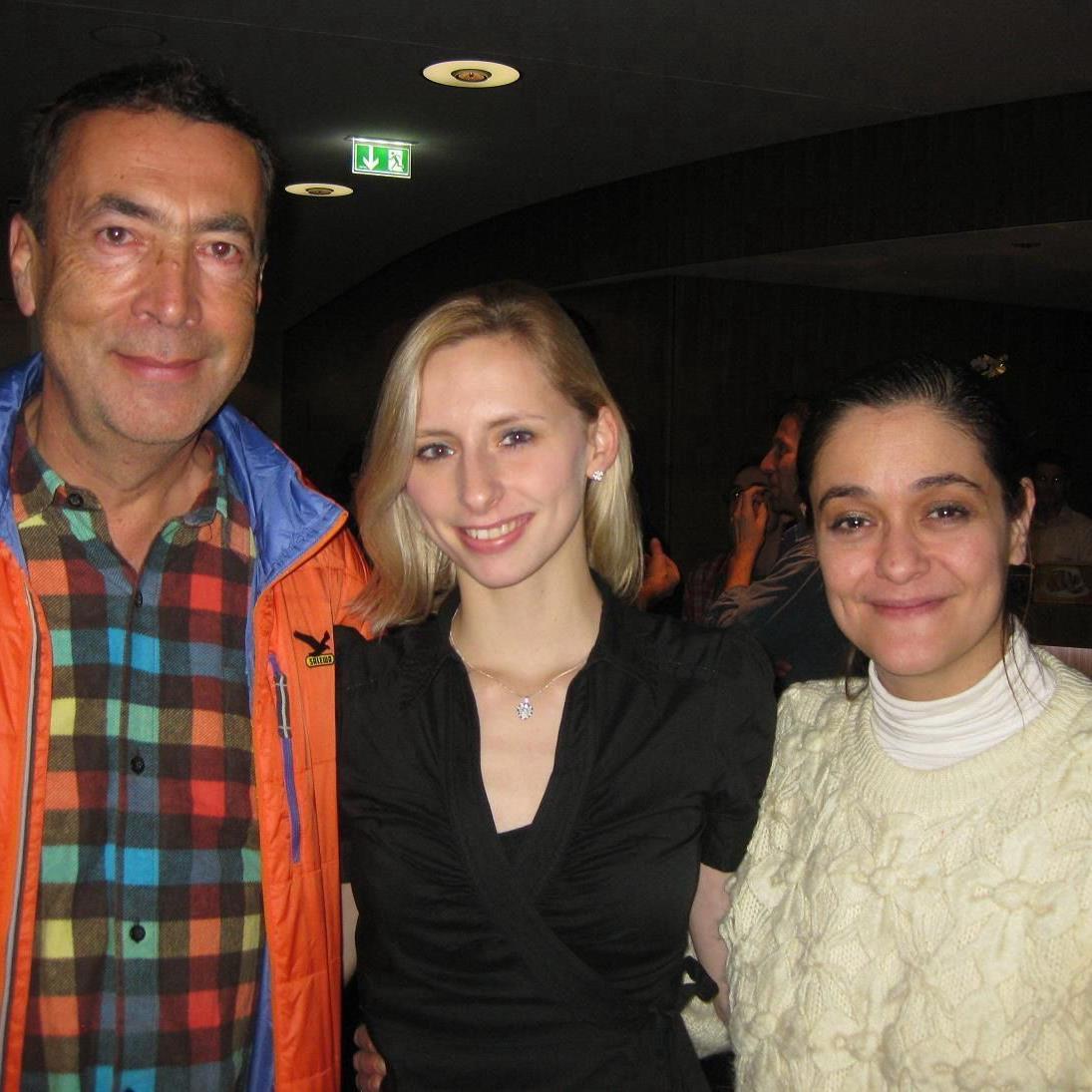 Hubert von Goisern, Caroline Weber und Gymnastik-Nationaltrainerin Luchia Egermann