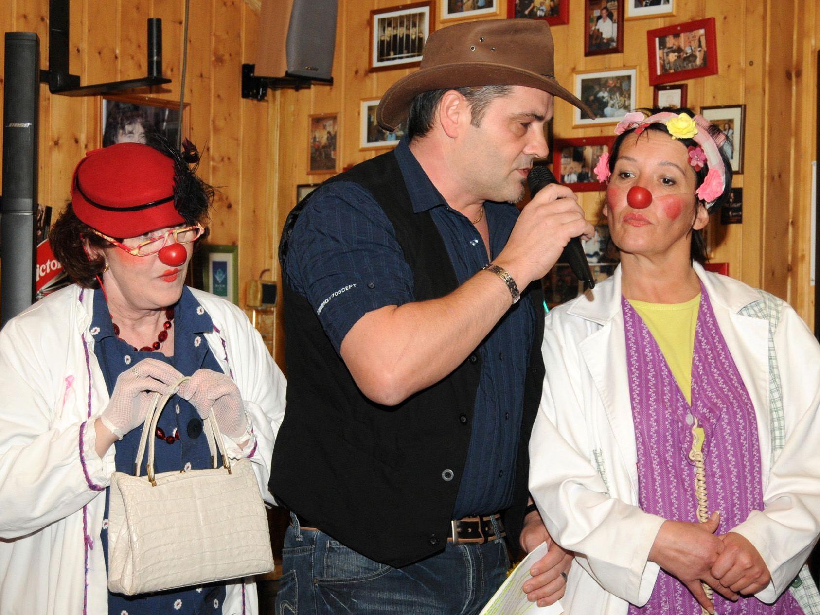CliniClowns Prof. Wirrwar und Dr. Purzel mit Charly Reiner