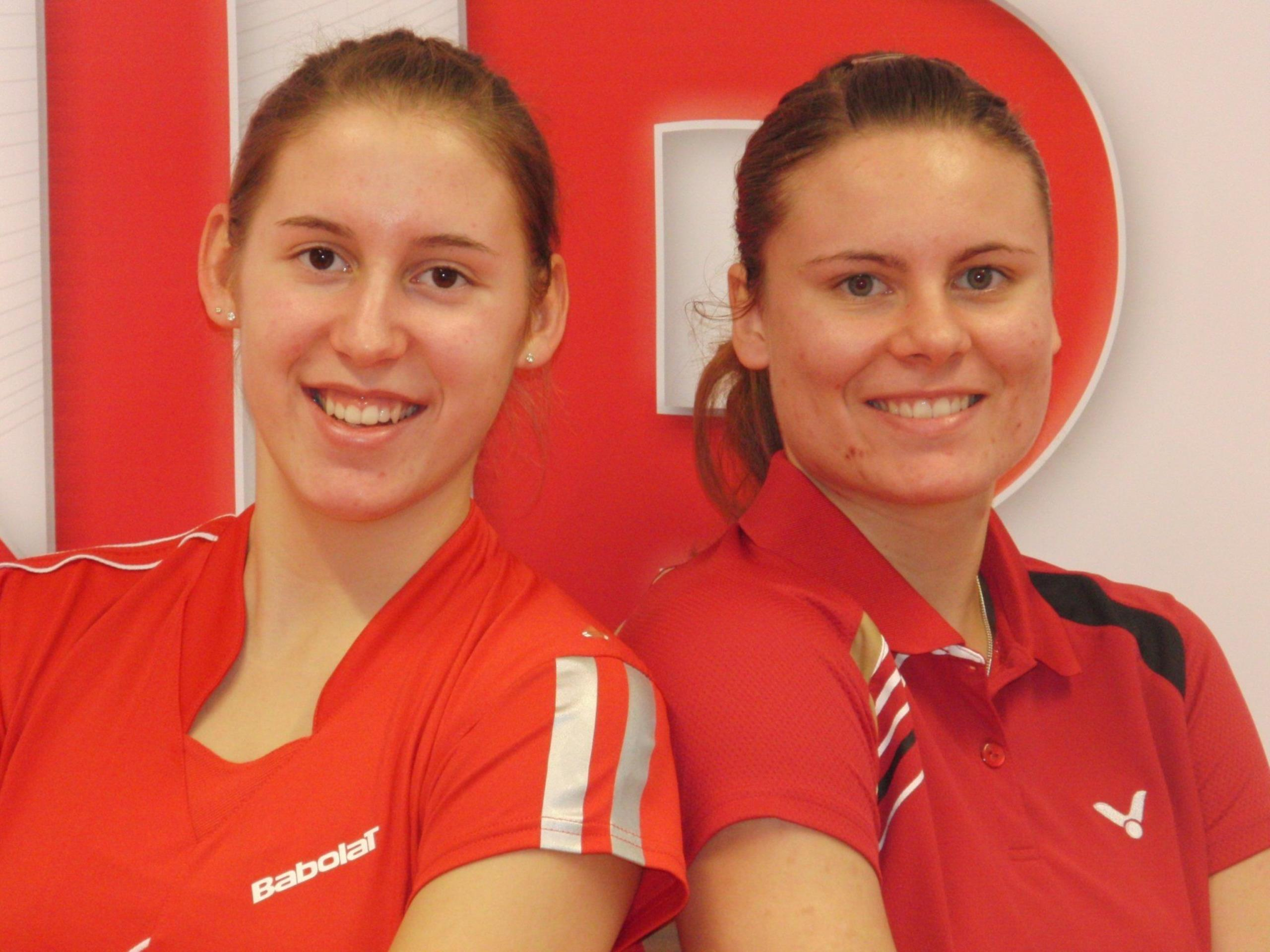 Die 2-fache Landesmeisterin Sarina KOHLFÜRST (rechts) mit ihrer Partnerin Nathalie ZIESIG (links)