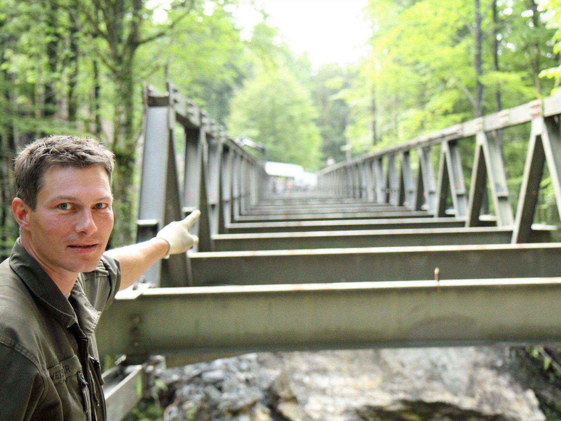Beim Brückeneinsturz in Ebnit kamen glücklicherweise keine Menschen zu schaden..