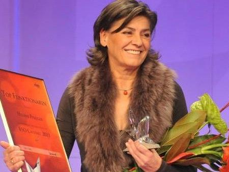 """Bei der BSO-Cristall-Gala wurde Helene Pflüger in der Kategorie """"Top-Funktionärin"""" ausgezeichnet."""