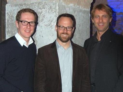 Gastgeber und Jungunternehmer: Martin Dechant (l.) mit Remo Klinger und Mario Wilfinger.