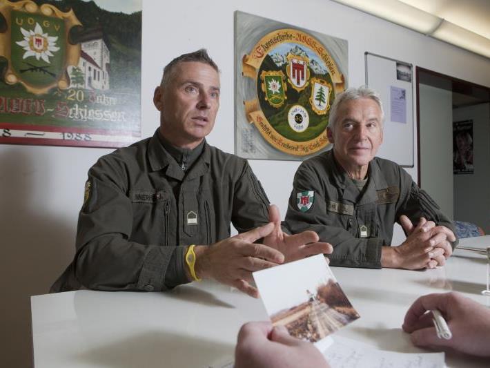 Hans Innerhofer (l.) und Siegfried Stimpfl haben lebendige Erinnerungen an ihren Soldateneinsatz im Osten.