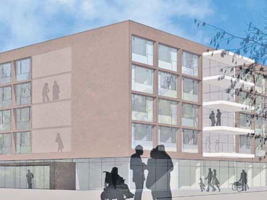 Das neue Seniorenheim in Hallein wird in Modulbauweise errichtet.