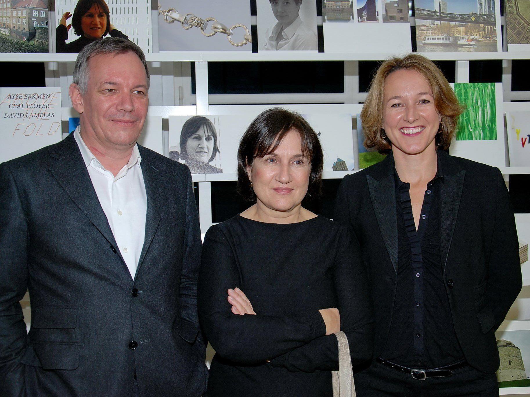 Wolfgang Fetz sowie Ayse Erkmen und Kulturstadträtin Judith Reichart.