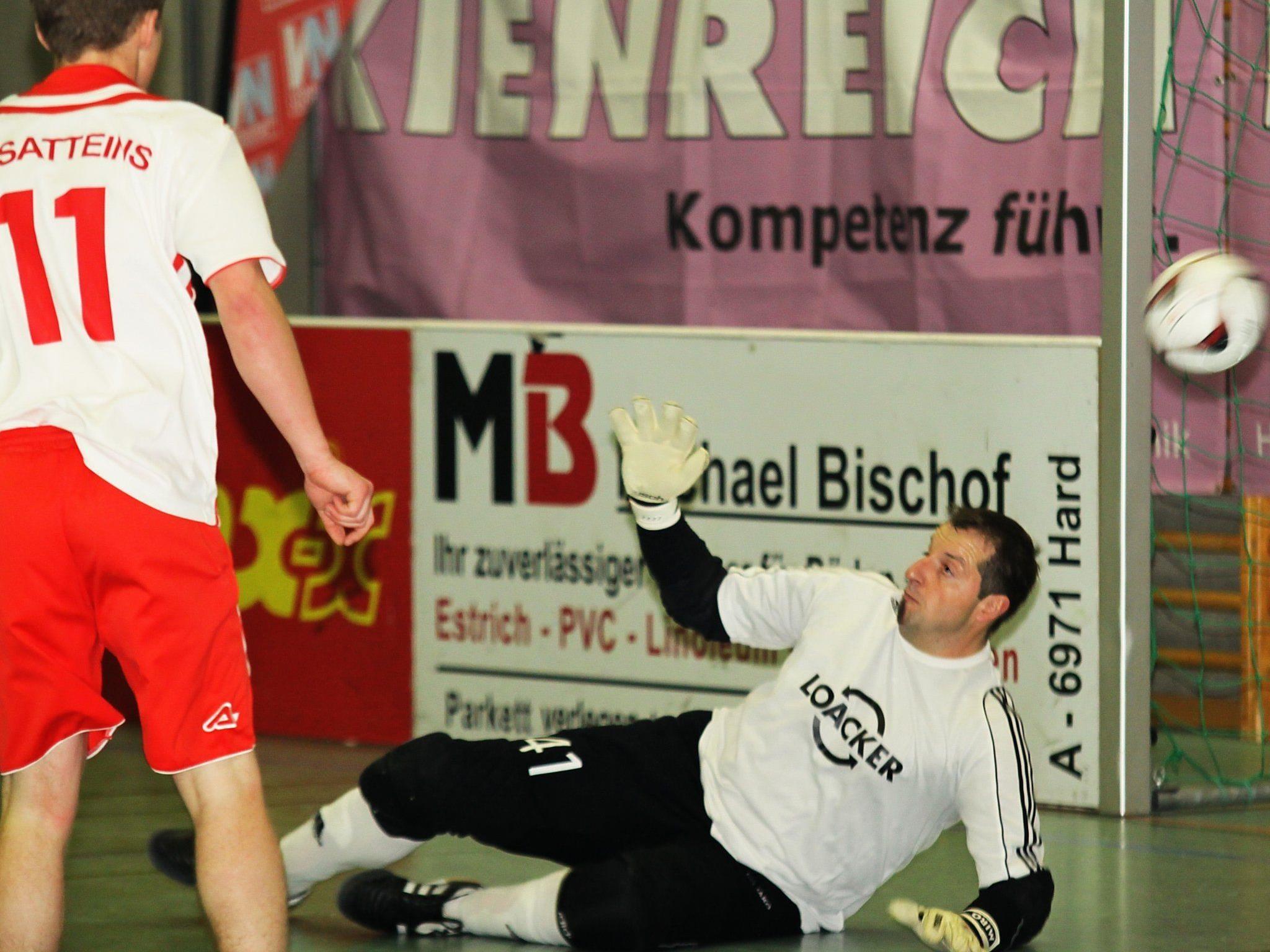 Goalie Miro Bodrazic war beim Sensationsteam Satteins der große Rückhalt.