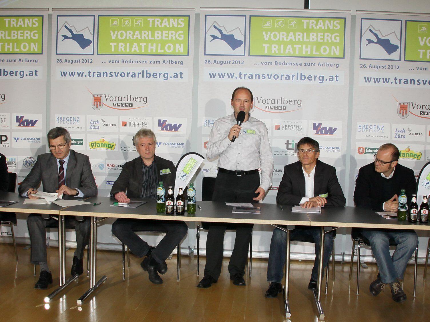 Trans Vorarlberg Triathlon wurde in Bregenz vorgestellt.