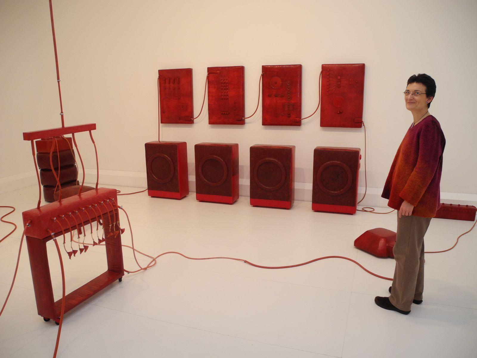 """Die in der Ausstellung gezeigte Arbeit """"Kraftwerk"""" von Carmen Pfanner bildet ein """"work in progress""""."""