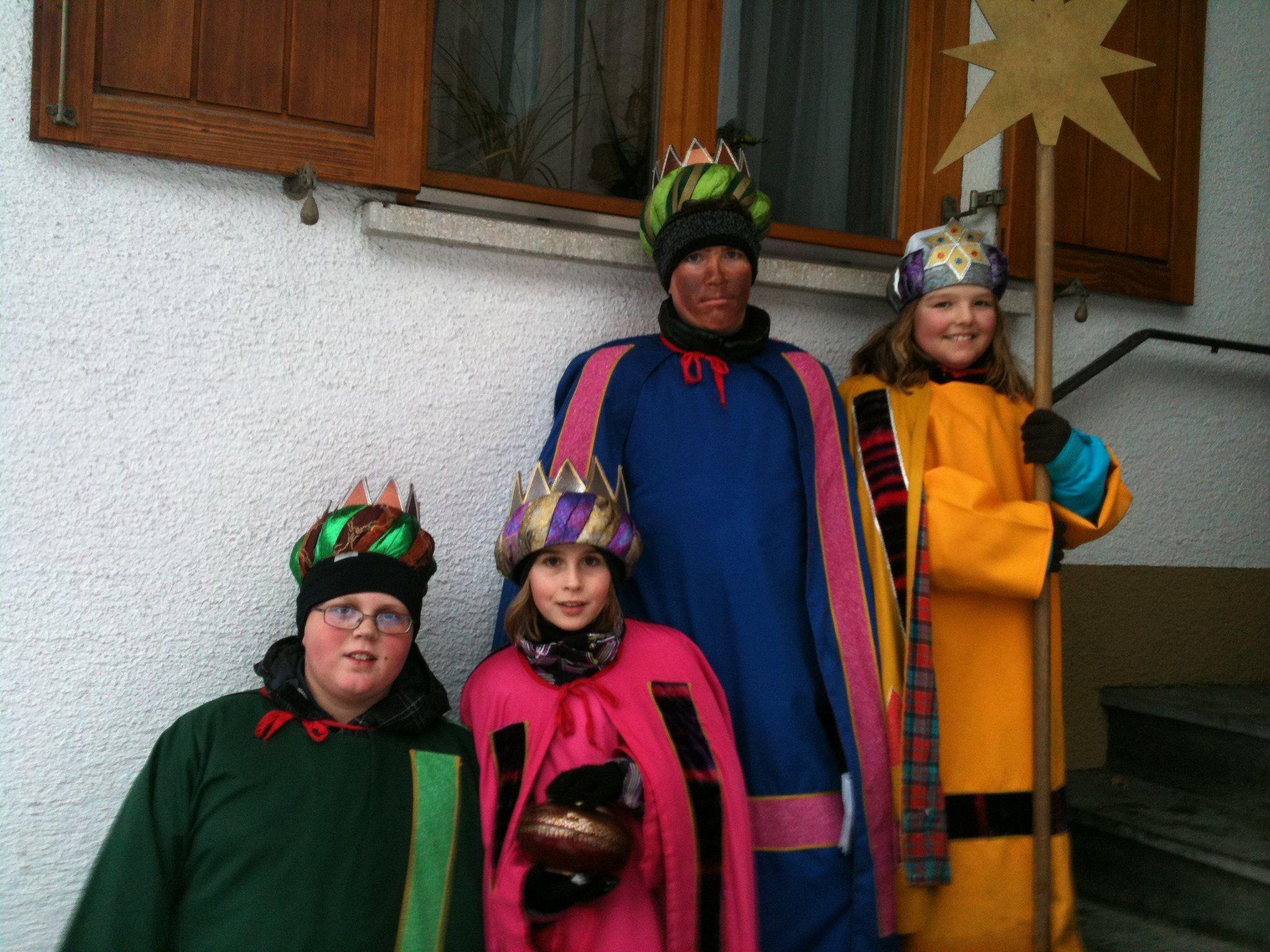 Sternsinger waren in Gantschier auch noch am 8. Jänner unterwegs