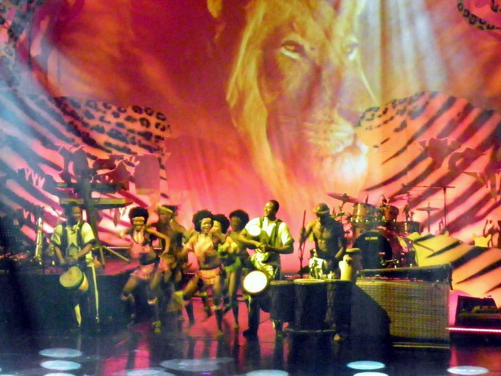 Spektakuläre Bühnenkulisse