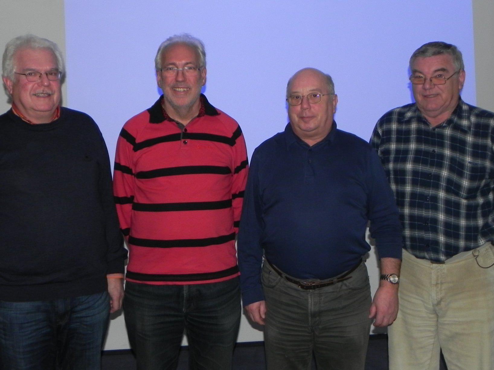 Vorstand: Schriftf. Rainer Ratt, Obmann Peter Schmid, Stv. Eugen Schertler, Kassier Franz Semmler