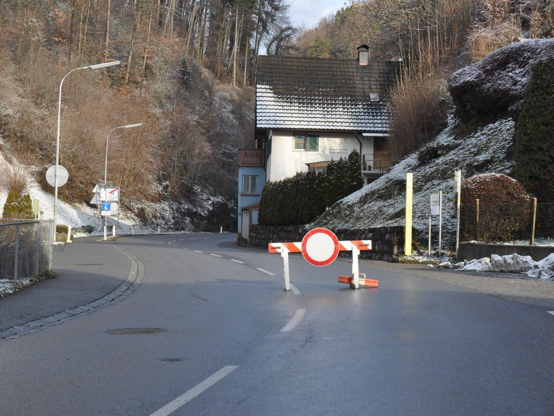 Die L 50 von Klaus nach Götzis ist tagsüber gesperrt.
