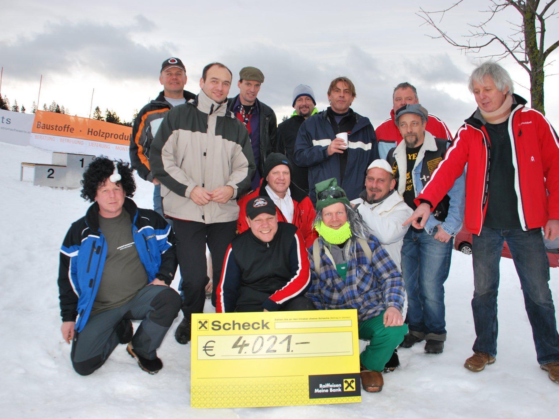 4021 Euro für einen guten Zweck brachte die Charity Veranstaltung