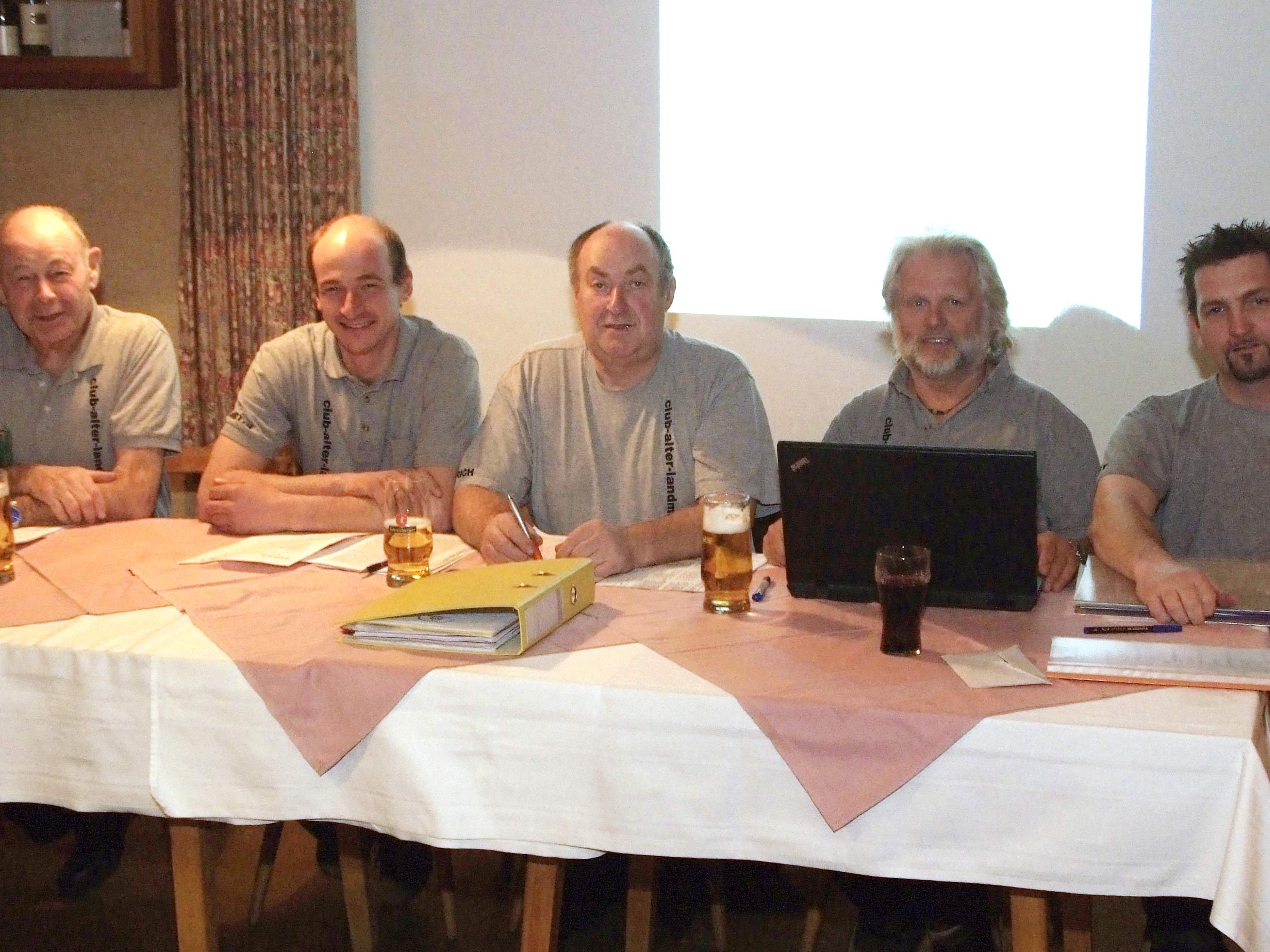 Vorstand: v.li. Werner Dünser, Martin Burtscher, Heinrich Schnetzer, Alex Rüdisser, Stefan Tschann.