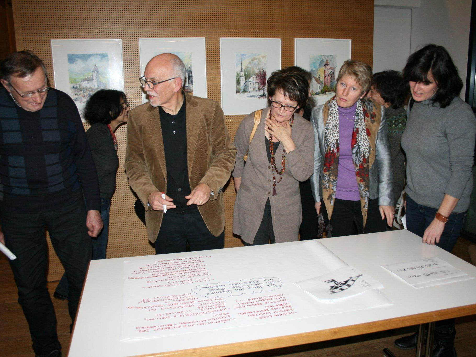Heinz Zudrell sammelt mit seiner Arbeitsgruppe Ideen.