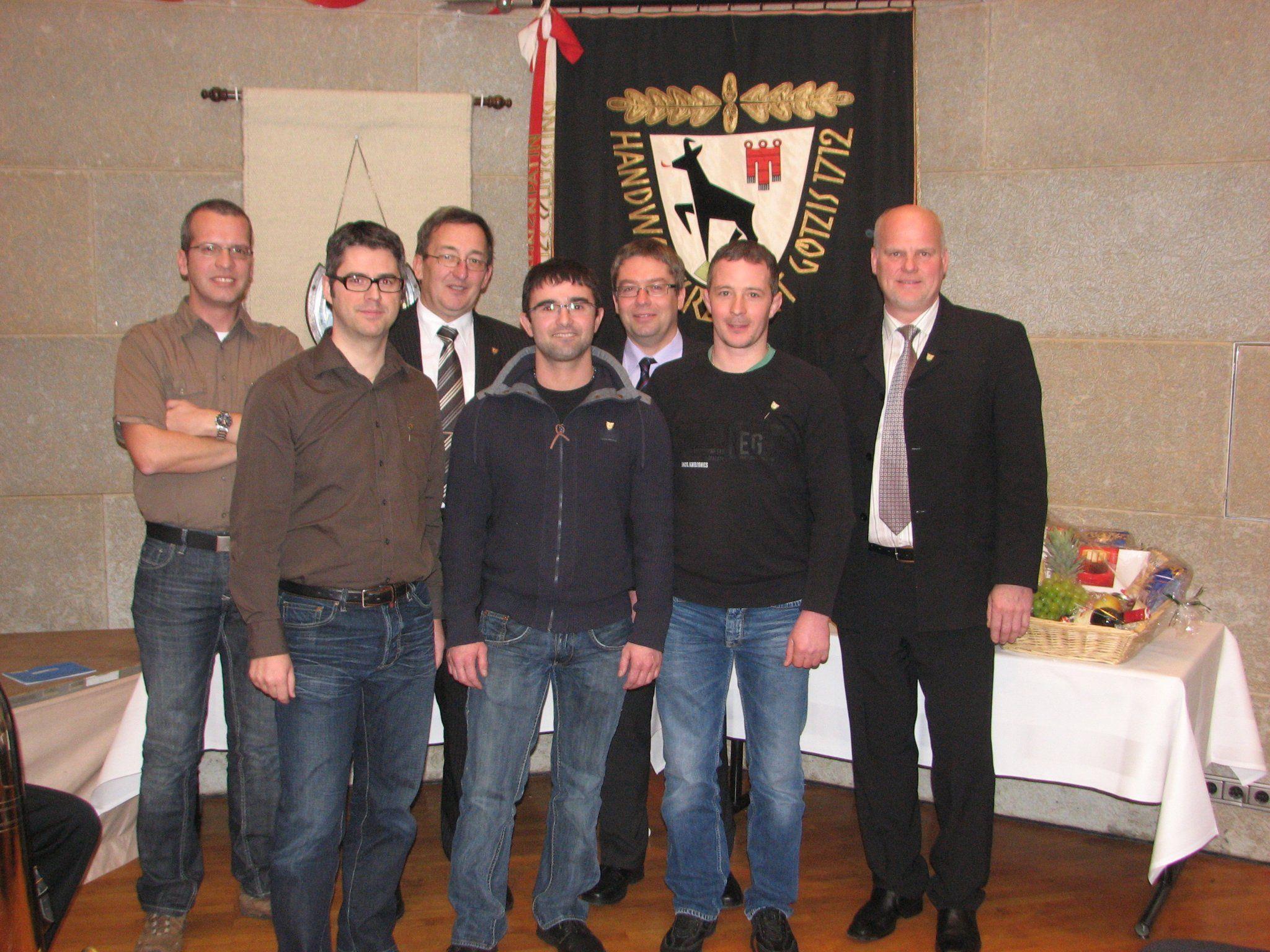Vier neue Mitglieder wurden in die Handwerkerzunft aufgenommen.
