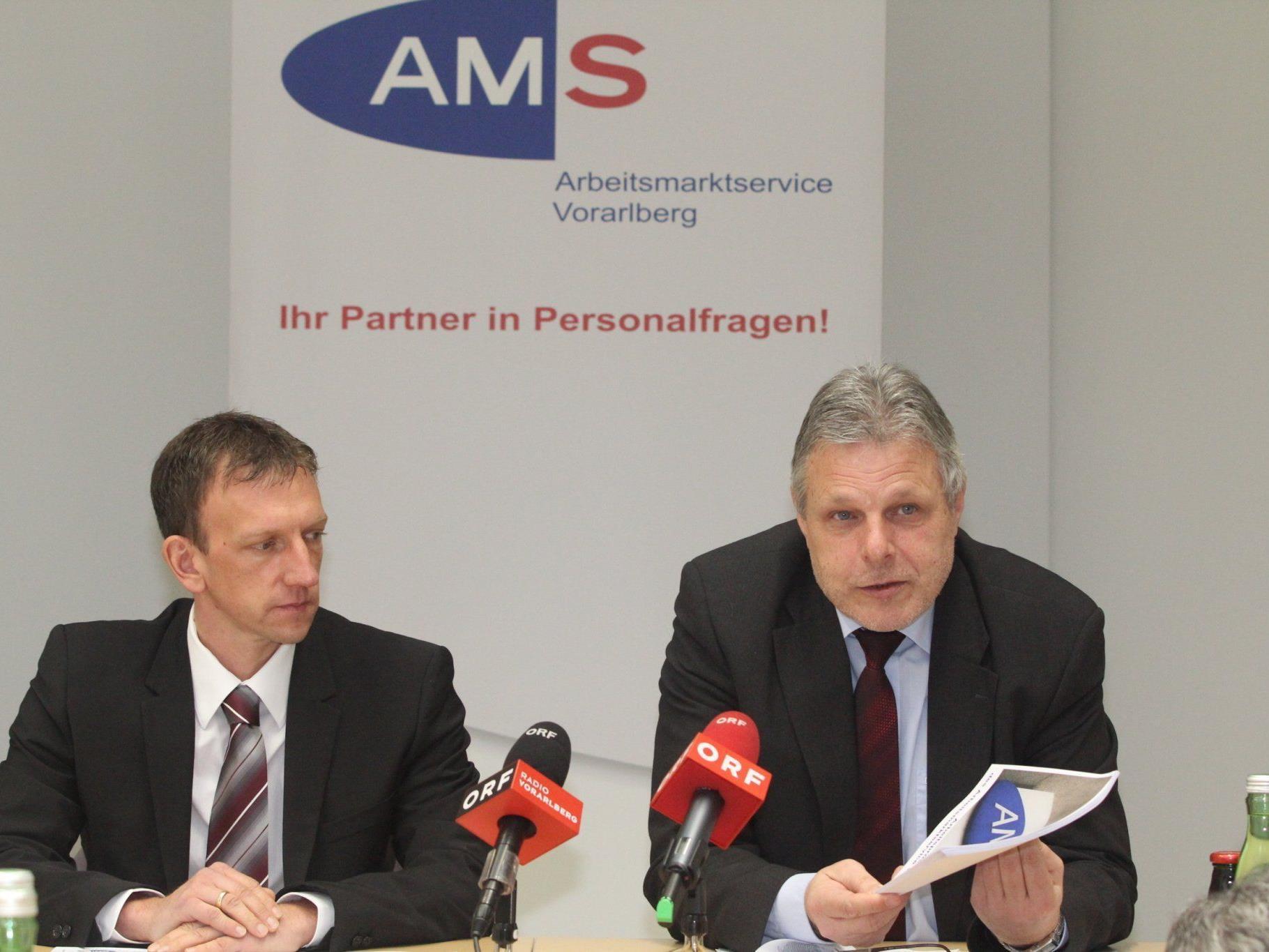 AMS-Pressekonferenz zum Arbeitsprogramm 2012.