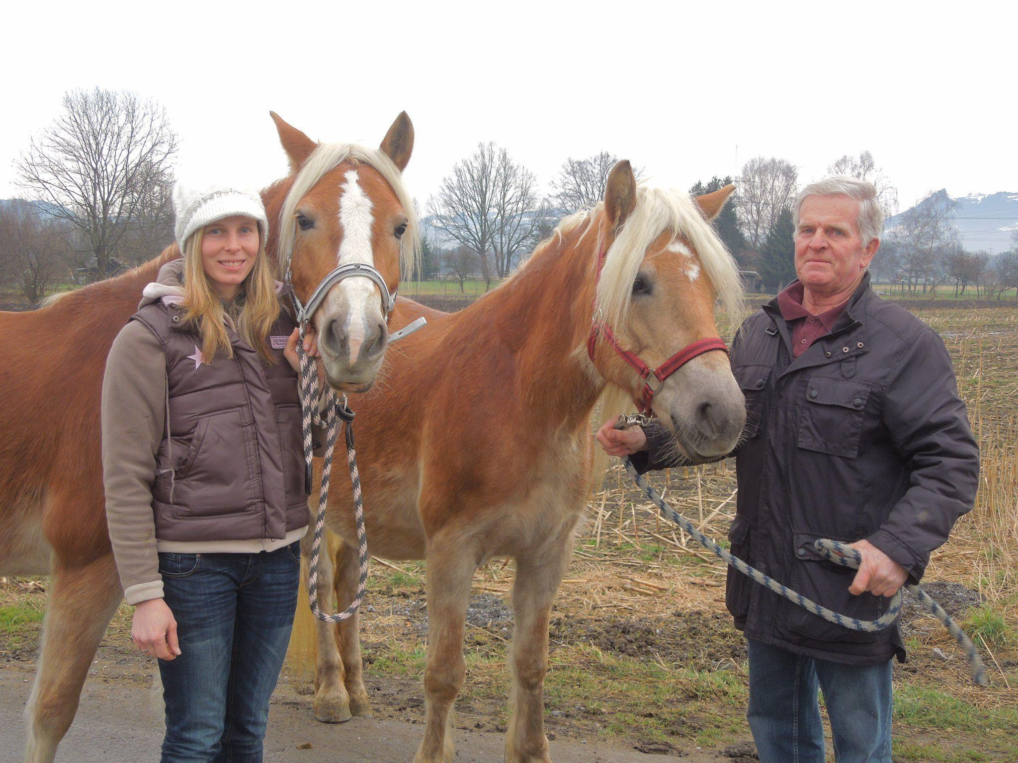Martina Riedmann und Otto Hofer sind beide seit frühester Kindheit Haflingerfans.