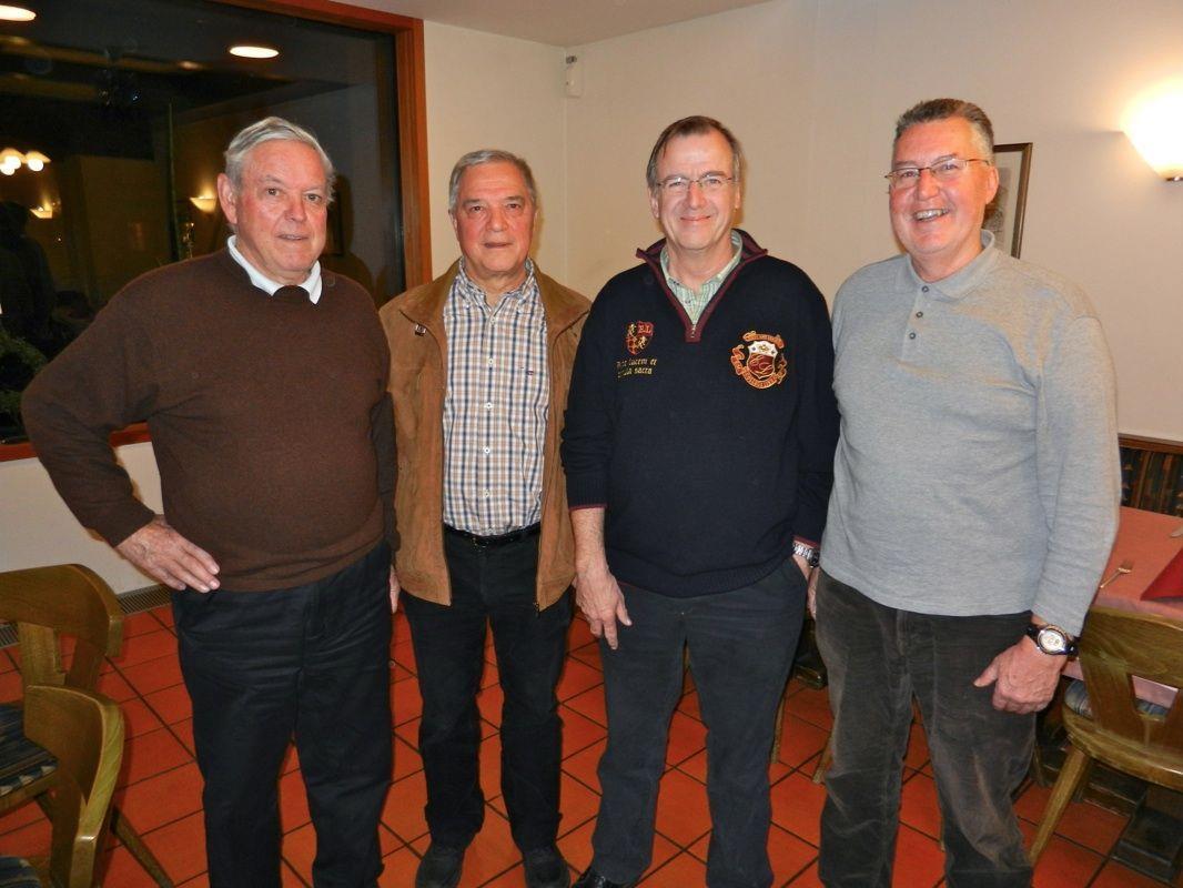 Langjährige Clubmitglieder: Manfred Bösch, Helmut Lercher, Obmann Helmut Müller und Helmut Köck