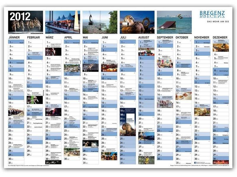 Bregnzer Highlights - Kalender