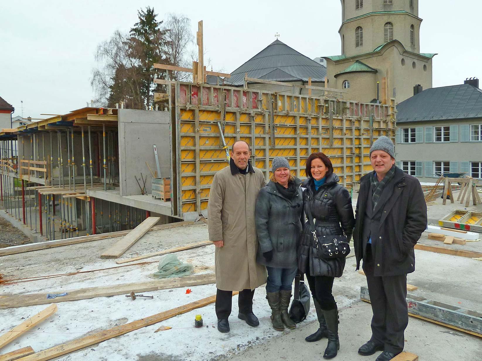 Beachtlicher Baufortschritt beim neuen Kindergarten Mariahilf