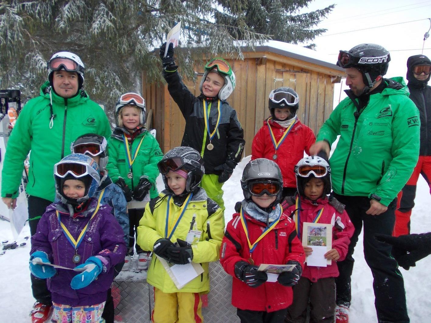 120 teilnehmer beim schiliftrennen  hohenems  volat