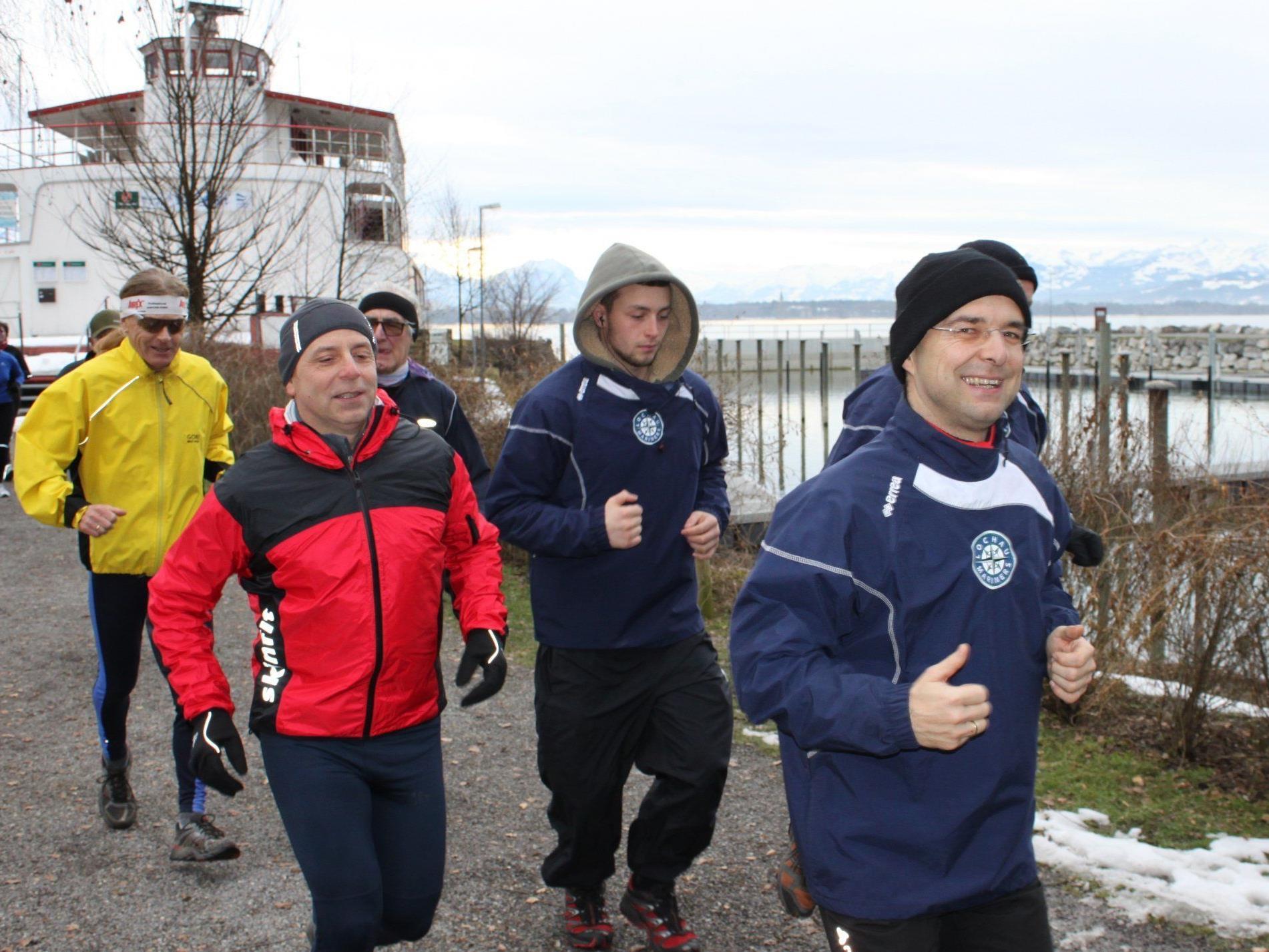 Zum Jahresauftakt treffen sich die Laufsportfreunde am See.