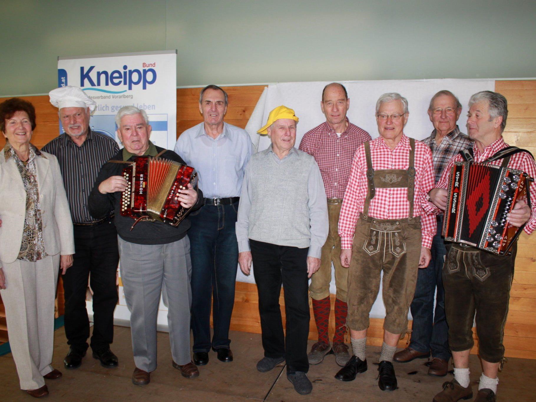 """Sie sorgten beim """"Fasnat-Znüne"""" des Kneippvereins für beste Unterhaltung."""