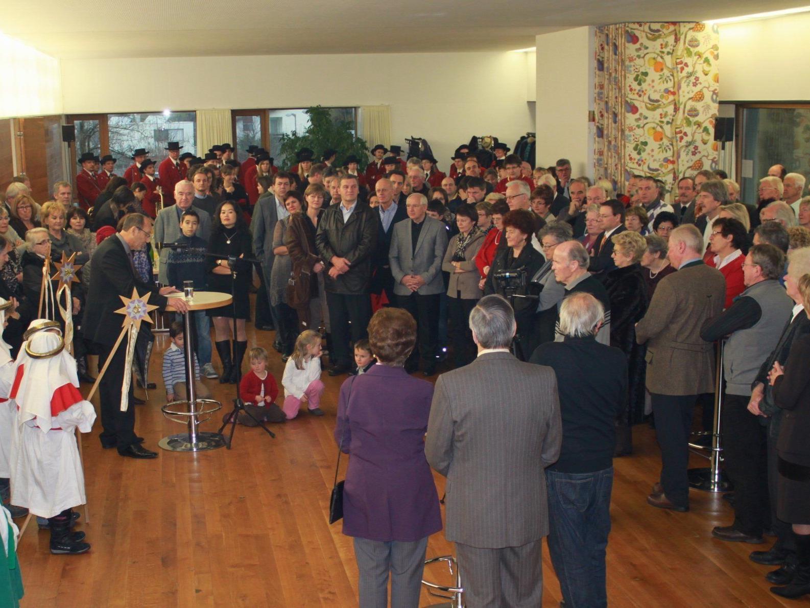 Im Mittelpunkt des Neujahrsempfanges 2012 stand die Rede des Bürgermeisters.
